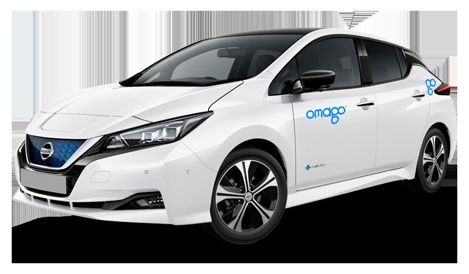 Omago taloyhtiöauto Nissan Leaf